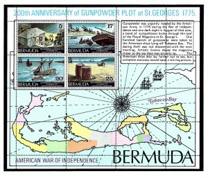 Bermuda 332a MNH 1975 American War of Independence S/S