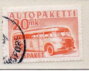 Finland Sc Q7 1952 20 mk Mail Bus Parcel Post stamp used