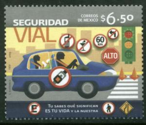 MEXICO 2657, TRAFFIC SAFETY. MINT, NH. VF.