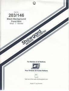 SHOWGARD BLACK MOUNTS 203/146 (3) RETAIL PRICE $7.50