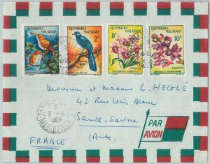 81039 - MADAGASCAR - POSTAL HISTORY - COVER to FRANCE  1964 Orchids BIRDS