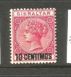 GIBRALTAR  1889   10c on 1d  QV  MH     SG 16