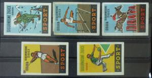 Match Box Labels ! sport horse racing athletics table tennis GN62