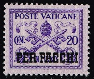 ITALY VATICAN CITY STAMP #Q3 PARCEL POST 1931 Overprinted PER PACCHI MNH/OG