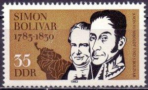 GDR. 1983. 2816. Simon Bolivar. MNH.