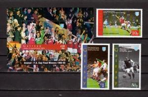Gairsay, 1993 Scotland Local issue. Soccer Champions set & s/sheet.