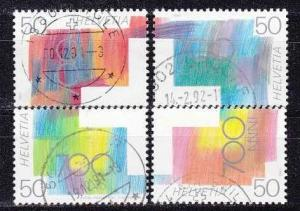 SCHWEIZ SWITZERLAND [1991] MiNr 1438-41 ( O/used ) [02]