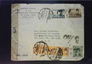Egypt 1945 Censored Cover to USA - Z1597