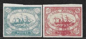 COLLECTION LOT OF 2 SUEZ CHANNEL 1868 STAMPS MNH