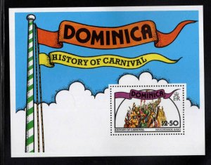 DOMINICA Scott 561 MNH** 1978 History of Carnival souvenir sheet