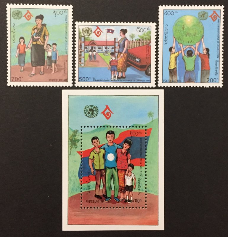 Laos 1994 #1184-7, International Year of the Family, MNH.