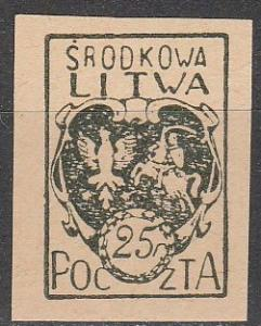 Central Lithuania #2  F-VF Unused  Imperf (S9033)