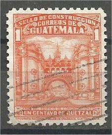 GUATEMALA, 1943, used 1c, Arch of Communications. Scott RA21