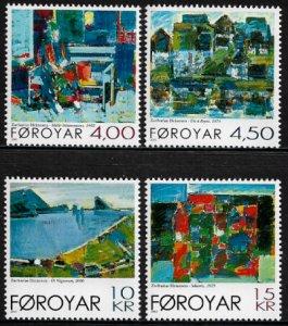 Faroe Is #397-400 MNH Set - Paintings - Art