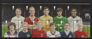 Great Britain Sc 3177b 2013 Soccer Players stamp sheet mint NH