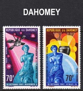 Dahomey Scott C67-68 F to VF mint OG NH.
