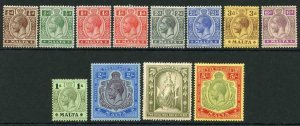 Malta SG69/88 KGV Set wmk Mult Crown CA (no 4d) Fresh Colours M/M Cat 235 pounds