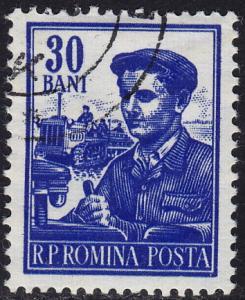 Romania - 1955 - Scott #1027A - used - Tractor Driver