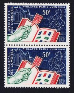 Comoro Is. 'Philatec' International Philatelic Exhibition 1v vert pair SG#41