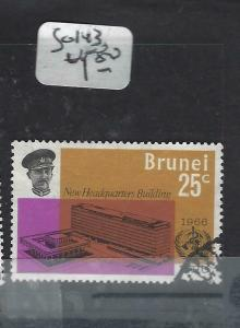 BRUNEI  (PP0905B)   WHO  SG 143    VFU