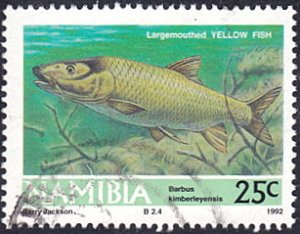 Namibia # 711 used ~ 25¢ Yellow Fish