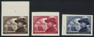 Hungary Death Centenary of General Bem 3v Imperforated SG#1154-1156 MI#1142-1144