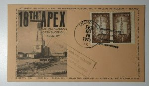 APEX Oil Industry Flown Private Carrier Anchorage AK 1970 Philatelic Expo Cover