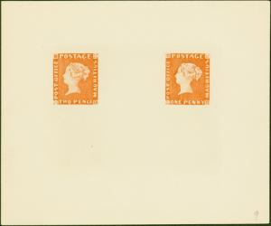 Mauritius 1847 POST OFFICE 1d and 2d in Orange-Red  SG1 and SG2 Reprint from the