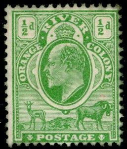 SOUTH AFRICA - Orange Free State SG139, ½d yellow-green, UNUSED. WMK CA