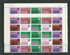 Australia 1971 Xmas, Both papers, Panes of 25, UM/MNH SG 498ab & 498bb
