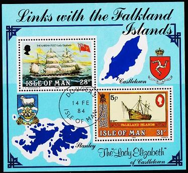 Isle of Man. 1984 Links with Falkland Is Miniature Sheet. S.G.MS264  Fine Used