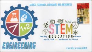 18-089, 2018, STEM Education, Digital Color Postmark, Engineering, FDC,