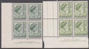 AUSTRALIA GVI - Queen Mother 2 imprint blocks MNH............................863