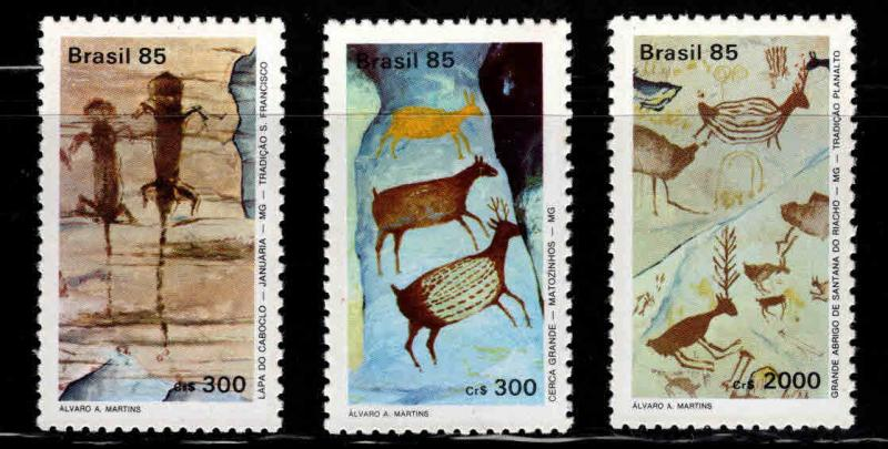 Brazil Scott  1998-2000 MNH** primitive art set