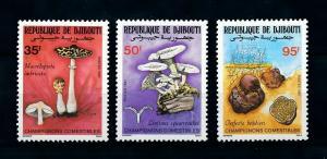 [100366] Djibouti 1987 Mushrooms Pilze Champignons  MNH