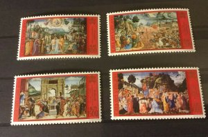 Vatican City Sc# 1172-1175 MNH Complete Set 2001 Sistine Chapel