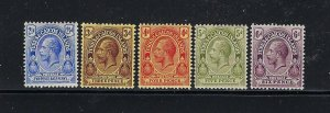 TURKS AND CAICOS SCOTT #28-32 1913-16 GEORGE V PARTIAL SET (POSTAGE) MINT LH