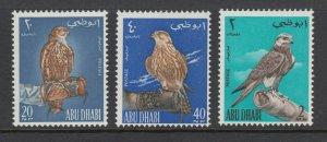Abu Dhabi Sc 12-14 MLH. 1965 Birds of Prey, complete set, fresh, VLH, F-VF.