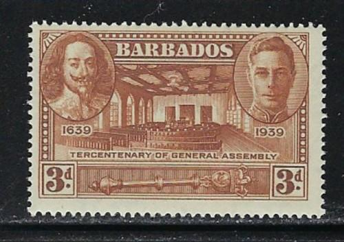 Barbados 206 NH 1939 issue