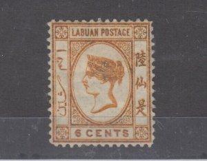 Labuan QV 1880 6c SG6 MH JK1067