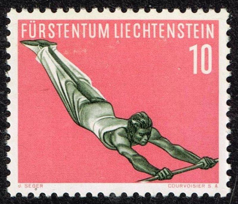 Liechtenstein Stamp 1957 Gymnastics MH/OG STAMP 10 RP