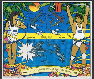 NAURU 1995 SUMMER OLYMPICS - MINI SHEET