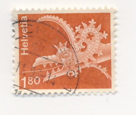 Switzerland 1973 Scott 575 used - 1.80fr, Gargoyle, dragon