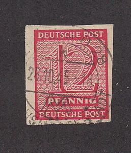GERMANY - DDR SC# 14N7a FINE U 1945