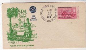 U.S. 1953 Philatelic Soc. 59th An Conv.Tampa Illust 200thAnn Stamp Cover Rf34492