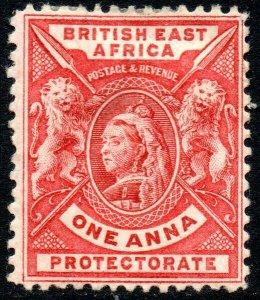1896 Sg 66 British East Africa 1d carmine-rose Mounted Mint