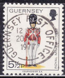 Guernsey 103 USED 1974 Guernsey Royal Militia Guard,1833 CDS