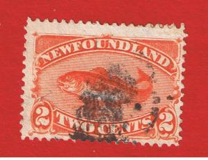 Newfounfland #48  F-VF used   Fish  Free S/H