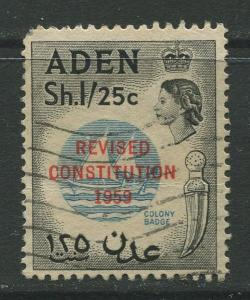 STAMP STATION PERTH Aden #64 - Revised Constitution 1959  Used  CV$3.00.
