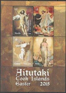 2015 Aitutaki 932-35/B102 Painting 14,00 €
